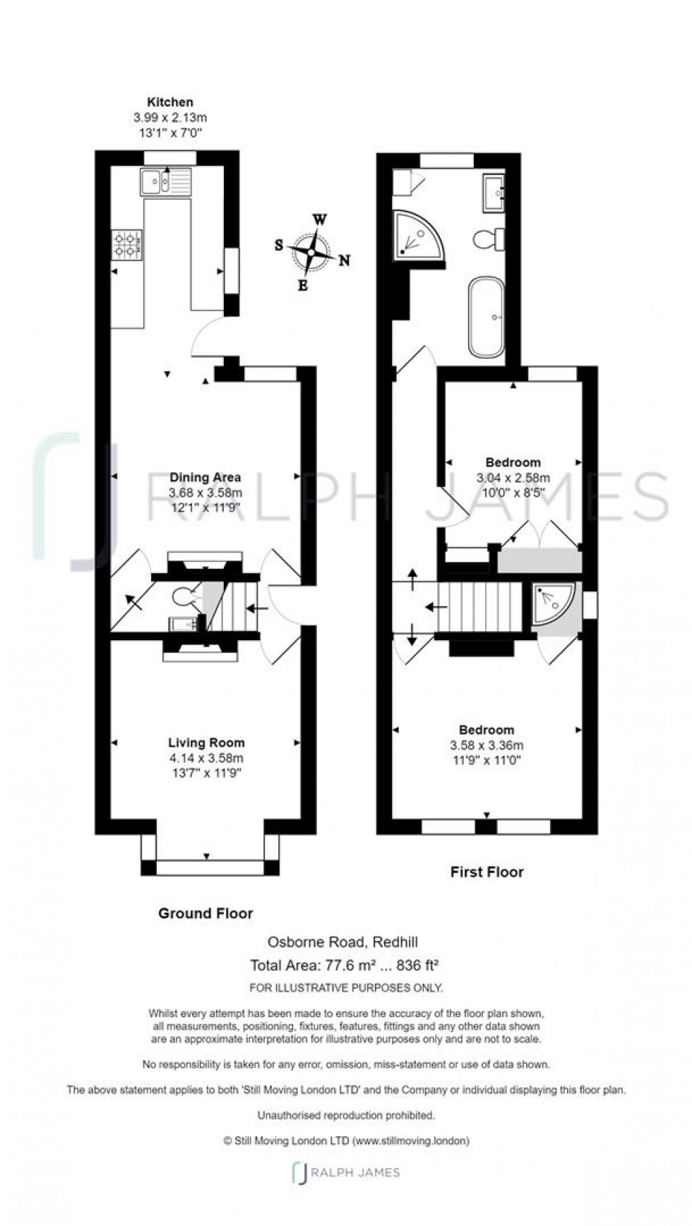 Floorplan for Osborne Road, Redhill