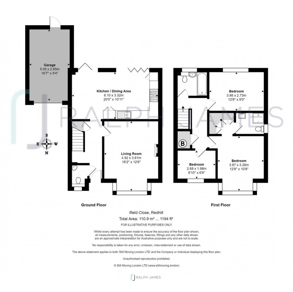 Floorplan for Ifield Close, Redhill